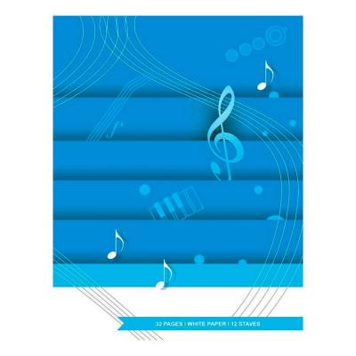 Quaderno Pentagrammato - 32 pagine - 12 Righi - A4 Carta bianca