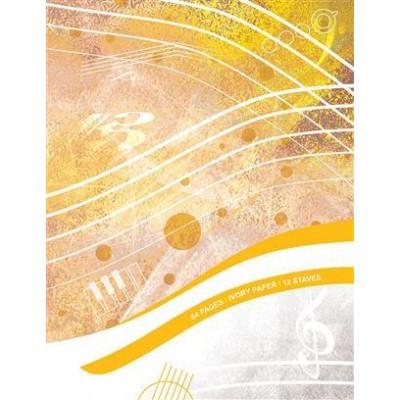 Quaderno Pentagrammato -  64 pagine, 12 Righi, Carta Avorio A4