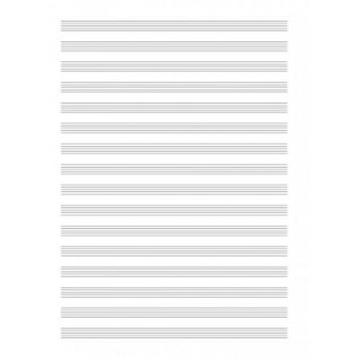 Carta Musica Quinterno 16 Righi 4 pagine