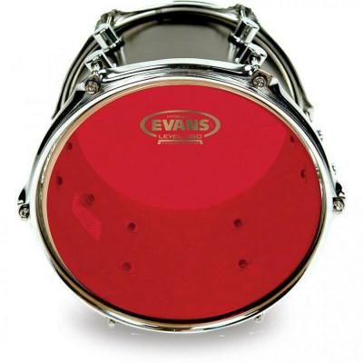 "Pelle  Evans 10"" Resonant Head Tom hydraulic red"