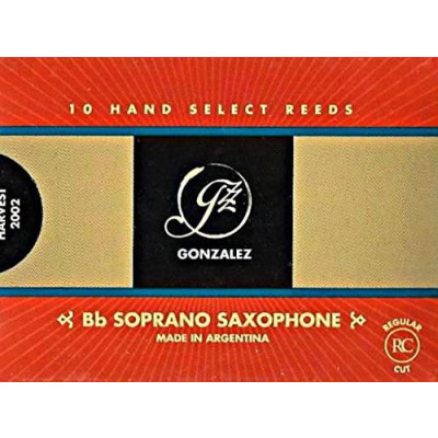 Gonzalez Ancia Sax Soprano Gonzalez n° 2 3/4 Confezione da 10