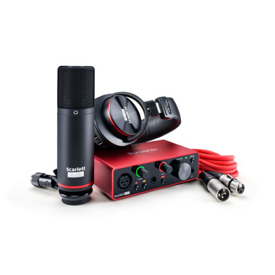 Scheda Audio FOCUSRITE Scarlett SOLO STUDIO BUNDLE(3GEN)