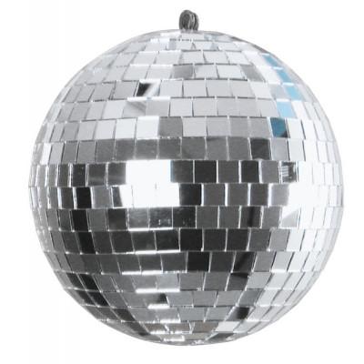 Sfera Specchiata Disco Color Argento, 15cm