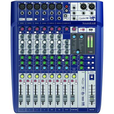 Mixer Soundcraft Signature 10 canali con effetto Lexicon e usb