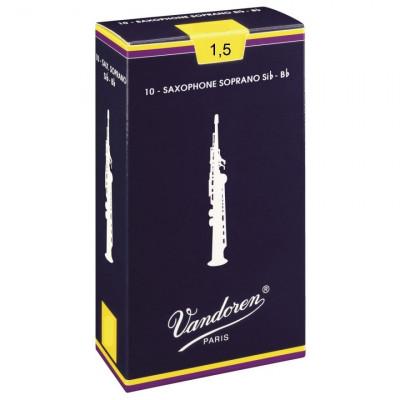 Vandoren Ance per Sax Soprano Si b, Confezione da 10, Spessore 1.5