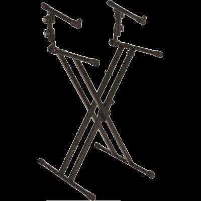 Quiklok Stand Doppio per Tastiera professionale