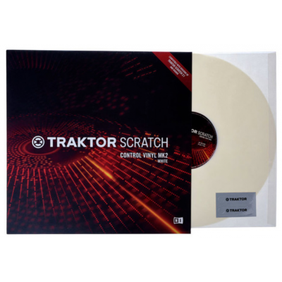 Native Instruments Traktor Scratch Vinile di Controllo MKII White