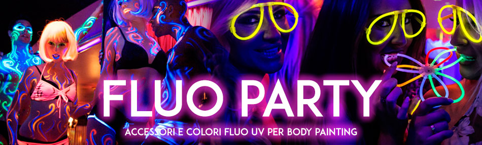 colori fluo body painting